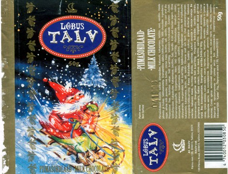Lobus talv, milk chocolate, 50g, 04.1997