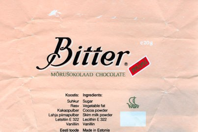 Bitter, dark chocolate, 20g, 1994