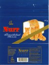 Nurr, milk chocolate, 100g, 12.1997