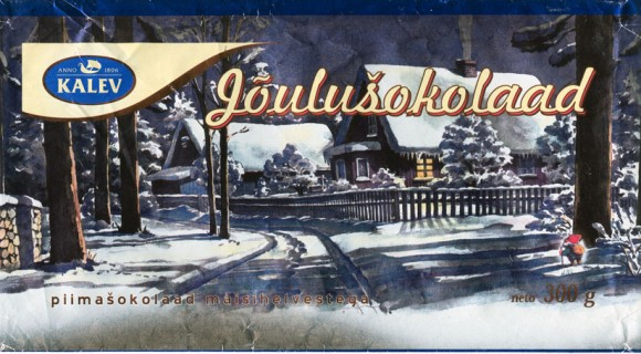 Joulusokolaad, milk chocolate with cornflakes, 300g, 09.2001