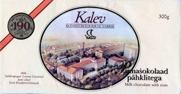 Kalev, milk chocolate with nuts, 300g, 06.1996
