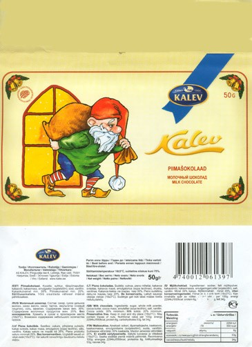 Milk chocolate, 50g, 08.2005, Kalev, Lehmja, Estonia