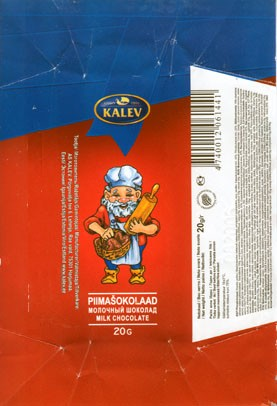 Milk chocolate, 20g, 08.2005, Kalev, Lehmja, Estonia