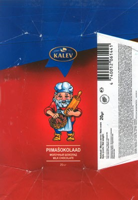Milk chocolate, 20g, 16.10.2006, Kalev, Lehmja, Estonia