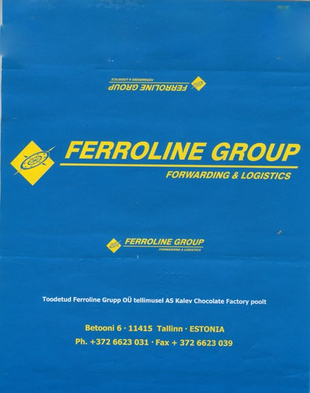 Ferroline Group, milk chocolate, 100g, 2008, Kalev, Lehmja, Estonia