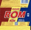 Autentic ROM, chocolate bar flavoured with rum, 30g, 01.07.2012, Kandia Dulce S.A, Bucharest, Romania