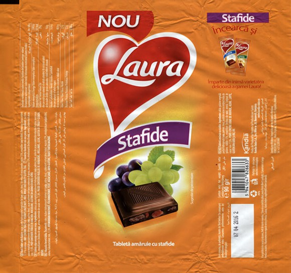 Chocolate with raisins and nuts, 90g, 07.04.2015, Kandia Dulce S.A, Bucharest, Romania