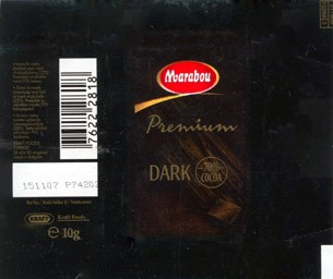 Extra fine dark chocolate, 10g, 15.11.2006, Kraft Foods Sverige, Angered, made in Belgium
