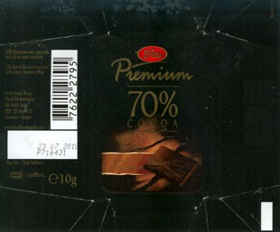 Freia, premium 70 % cocoa, dark chocolate, 10g, 23.07.2009, Kraft Foods Norge, Oslo, Norway