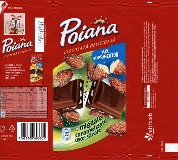Poiana, milk chocolate with caramelized nuts, 90g, 16.06.2012, Kraft Foods Romania S.A, Bucuresti, Romania