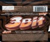 3Bit, milk chocolate coted bar with cream filling and biscuit, 45g, 15.03.2004, Kraft Foods Slovakia, Praha, Slovakia