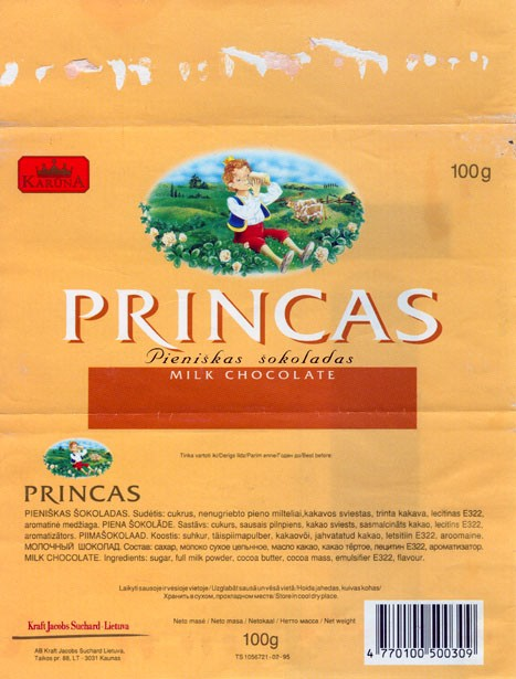 Karuna, Princas, milk chocolate, 100g, 24.10.1996