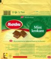 Mint krokant,mint flavoured milk chocolate with crunchy caramel,200g, 01.05.2004 