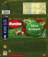 Marabou, Mint krokant, mint flavoured mik chocolate with crunchy caramel, 250g, 19.07.2011, Kraft Foods world travel Retail LLC, Sweden