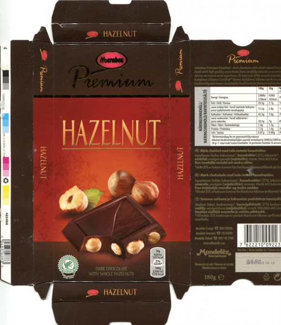 Marabou, Premium, dark chocolate with whole hazelnuts, 180g, 14.06.2013, Kraft Foods Sverige, Sweden