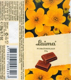 Milk chocolate, 20g,07.05.2005, Laima, Riga, Latvia