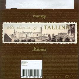The Legend of Tallinn, milk chocolate, 20g, 12.04.2006, Laima, Riga, Latvia