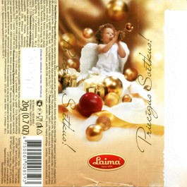 Merry Christmas, milk chocolate, 20g, 13.07.2009, Laima, Riga, Latvia