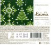 Season's greetings!, milk chocolate, 20g, 11.10.2012, Laima, Riga, Latvia