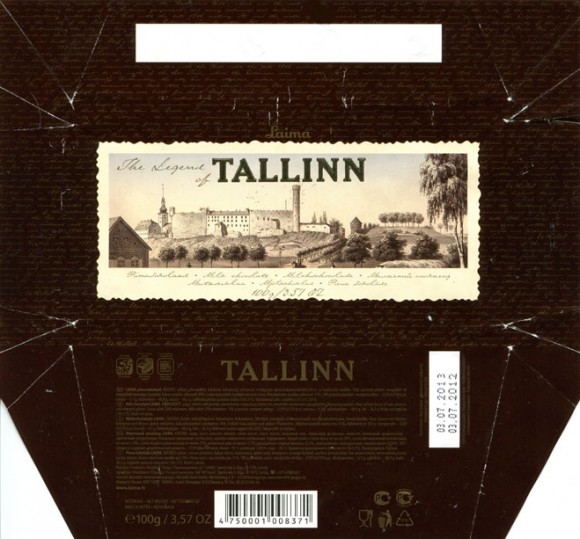 The legend of Tallinn, milk chocolate, 100g, 03.07.2012, Laima, Riga, Latvia