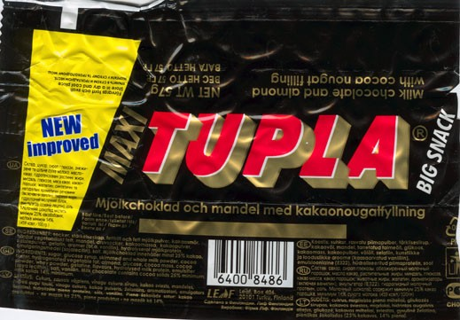 Tupla, milk chocolate with almond, 57g, 