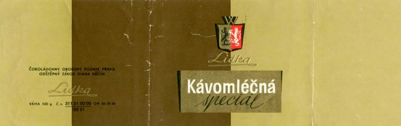 Milk chocolate, 100g, about 1965, Lidka (Diana), Decin, Czech Republic (CZECHOSLOVAKIA)
