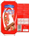 Animation, filled milk chocolate with a strawberry flavour yoghurt filling, 200g, 26.11.2009, Lidl Stiftung&Co.KG, D-74167 Neckarsulm, Germany