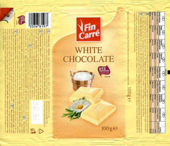 Fin Carre, white chocolate, 100g, 28.06.2012, Lidl Stiftung&Co.KG, Neckarsulm, Germany