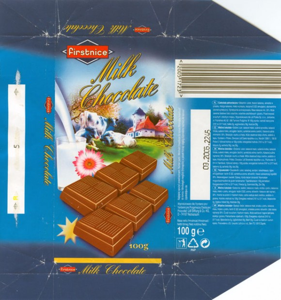 Firstnice, milk chocolate, 100g, 09.2004