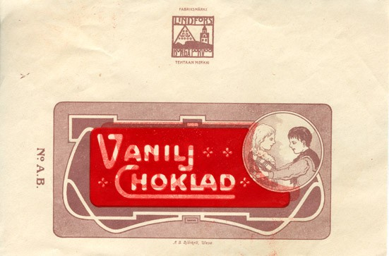 Milk chocolate, about 1950, Lindfors, Porvoo, Finland