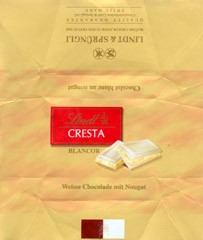 Cresta, white chocolate with nuts, 2006, Lindt & Sprungli, Kilchberg, Switzerland