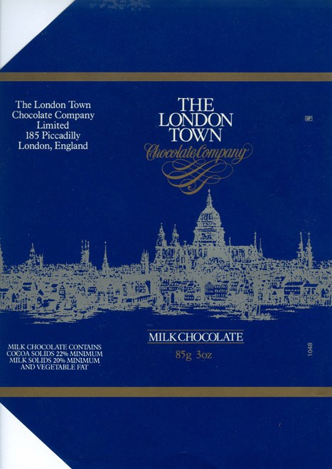 The London Town, milk chocolate, 85g, 1980, The London Town chocolate company, London, England