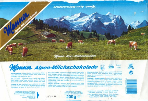 Alpen milk chocolate,200g, 21.10.1998