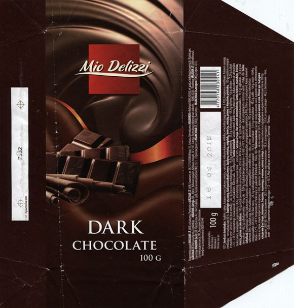 Mio Delizzi, dark chocolate, 100g, 16.04.2014, Made in Poland for Maxima Group, UAB
