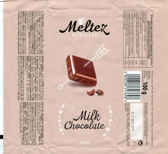 Milk chocolate, 100g, 18.01.2017, Made in Poland for Maxima, UAB