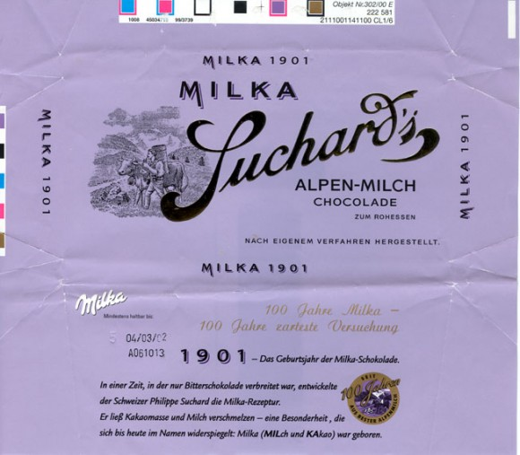 Milka 1901, milk chocolate, 100g, 04.03.2001 , 