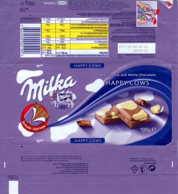 Milka, Alpine milk and white chocolate, 100g, 05.09.2008, Kraft Foods Manufacturing GmbH & Co.KG, Bremen, Germany