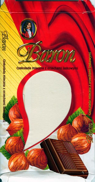 Baron, milk chocolate with nuts, 100g, 28.04.2004, 