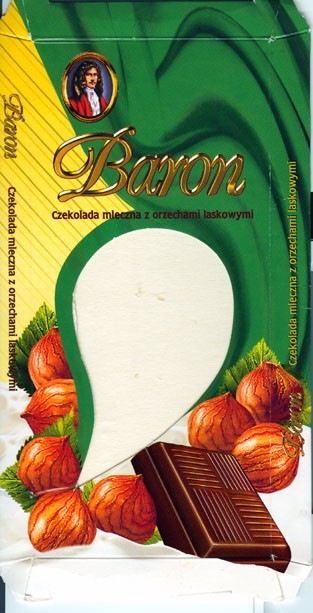 Baron, milk chocolate with nuts, 100g, 12.2003, 