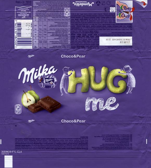 Milka, milk chocolate with pear, 100g, 13.09.2013, Mondelez International, Germany