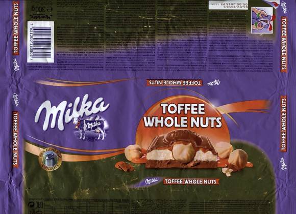 Milka, Alpine milk chocolate filled with a caramel flavoured milk filling, a caramel filling and whole hazelnuts, 300g, 05.05.2015, Mondelez International, Mondelez Oesterreich Production GmbH, Bludenz, Austria
