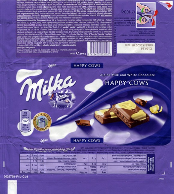 Milka, milk and white chocolate, 100g, 22.06.2015, Mondelez Polska Production sp.z.o.o., Kobierzyce, Poland