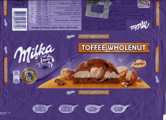 Milka, milk chocolate with toffee filling and whole nuts, 300g, 13.12.2013, Mondelez Romania S.A., Bucuresti, Romania