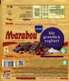 Marabou bar granola and yoghurt, milk chocolate with berries, muesli, yogurt, 200g, 16.03.2016, Mondelez Sverige, Sweden