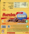 Marabou, Crisp!, milk chocolate with rice crisp and toffee pieces, 185g, 05.05.2018, Mondelez International (Sverige), Sweden