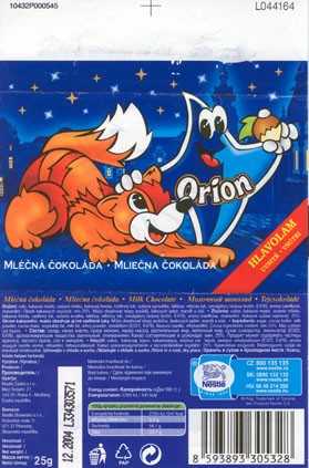 Milk chocolate, 25g, 12.2003, 