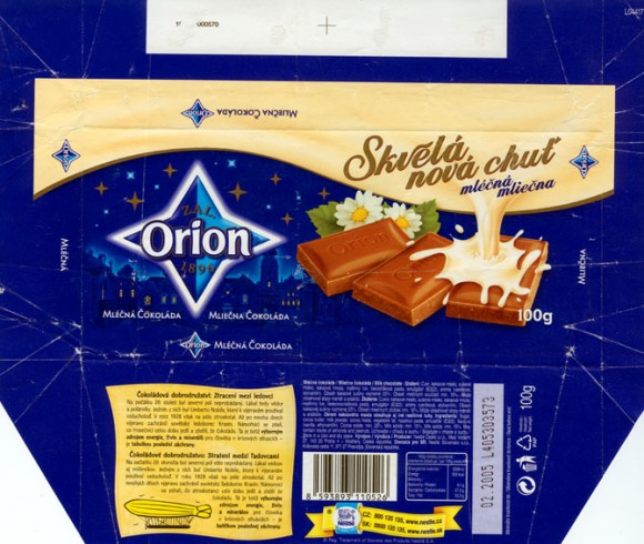 Skvela nova chut, milk chocolate , 100g, 02.2004