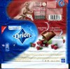 Orion, milk chocolate with yogurt and cranberries, 100g, 01.2009, Nestle Cesko s.r.o, Praha, Czech Republic