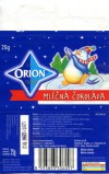 Orion, milk chocolate, 25g, 12.1996, Cokoladovny a.s, Praha, Czech Republic
