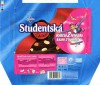 Studentska pecet, dark chocolate with raisins, peanuts and jelly pieces, 200g, 04.2006, Nestle Cesko s.r.o, Praha, Czech Republic